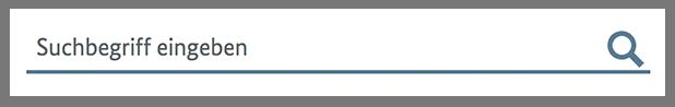 """Im Sucheingabe-Feld steht """"Suchbegriff eingeben"""" und dahinter ist eine Lupe abgebildet."""