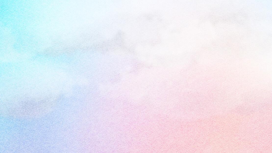 Schuckbild: Aquarell Rosa, Hellblau