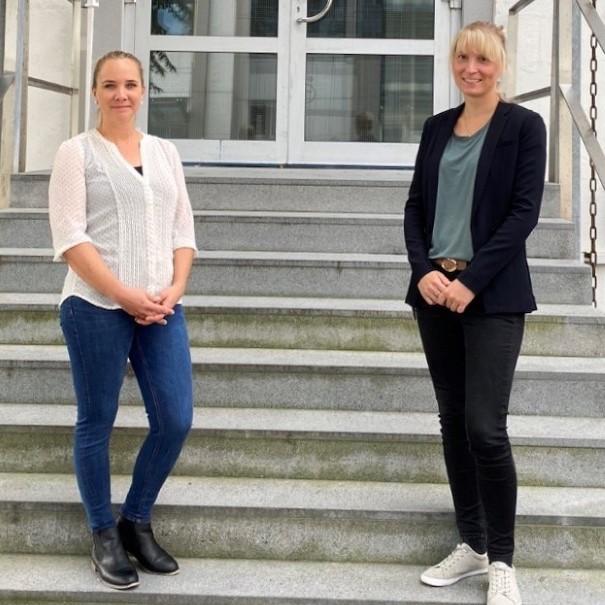 Sandra Hülle und Vanessa Woidtke