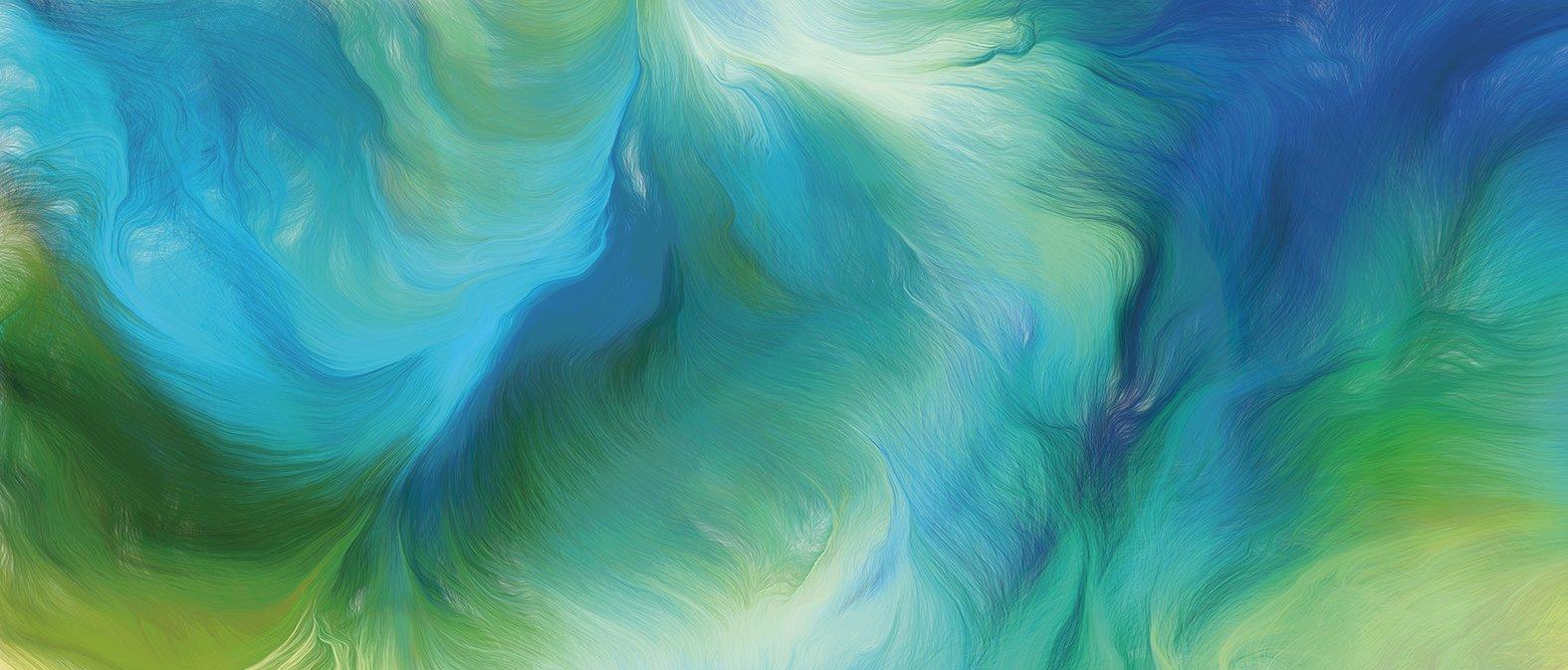 Schmuckbild: Aquarell blau, grün