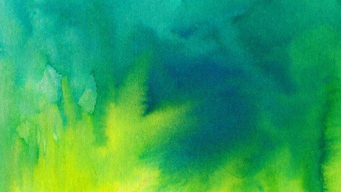 Schmuckbild: Aquarell Gelb, Grün
