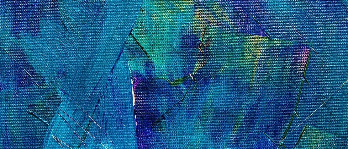 Schmuckbild: Ölgemälde blau